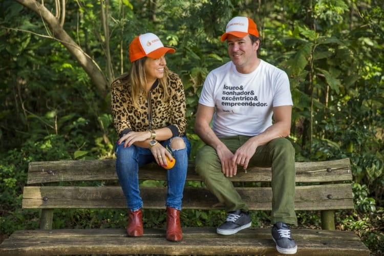 Bia Sant'Anna e Fabio Frazão, idealizadores do app Blocosderua.com